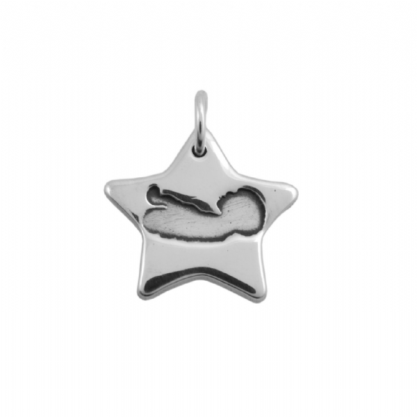 Sliver Star Baby Scan Charm